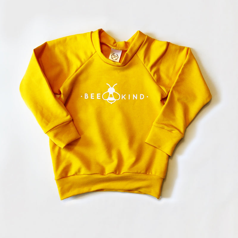 Child's Crewneck Bamboo Bee Kind in Sun