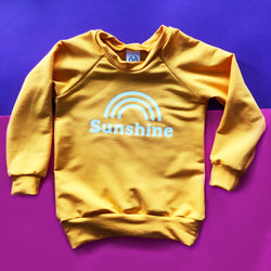Women's Long Sleeve Bamboo Top Crew Neck - Sunshine in Sun