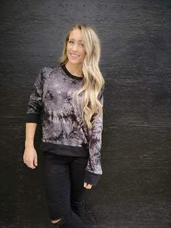 Adult Tie Dye Bamboo Pullover
