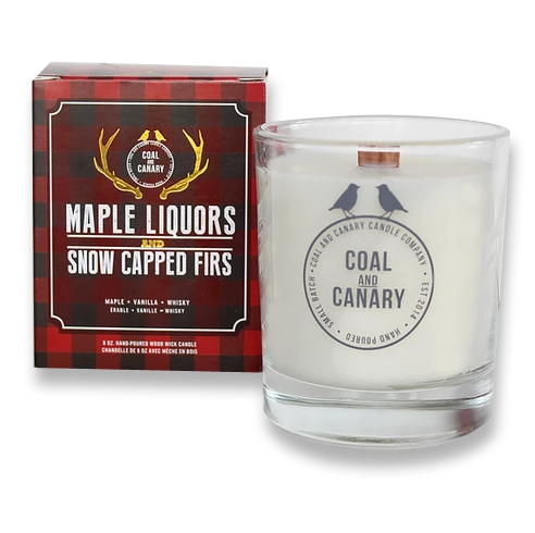 Maple Liquors and Snow Capped Firs Coal and Canary Candles