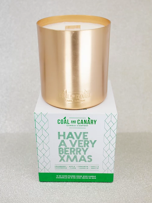 Have Yourself A Very Berry Xmas Coal and Canary Candles
