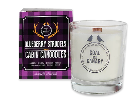 Blueberry Strudels and Cabin Canoodles Coal and Canary Candles