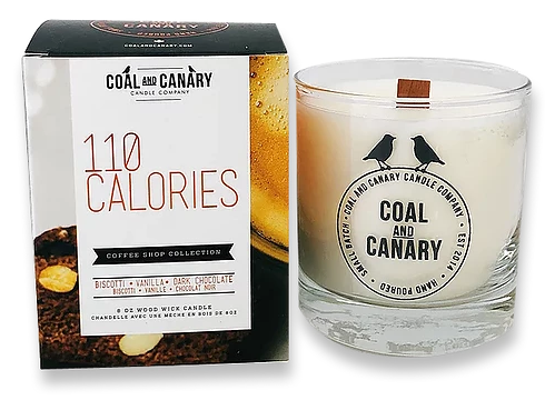 110 Calories Coal and Canary Candles