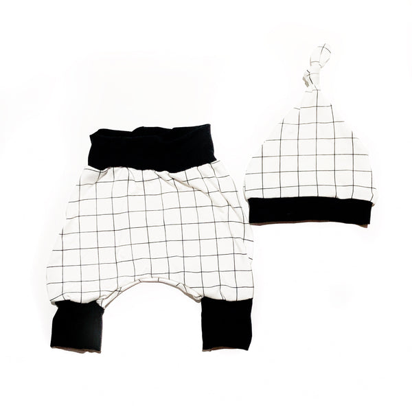 Harem Pants Set New Born Checkmate