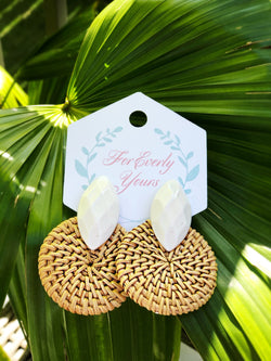 Glam Palm Earrings