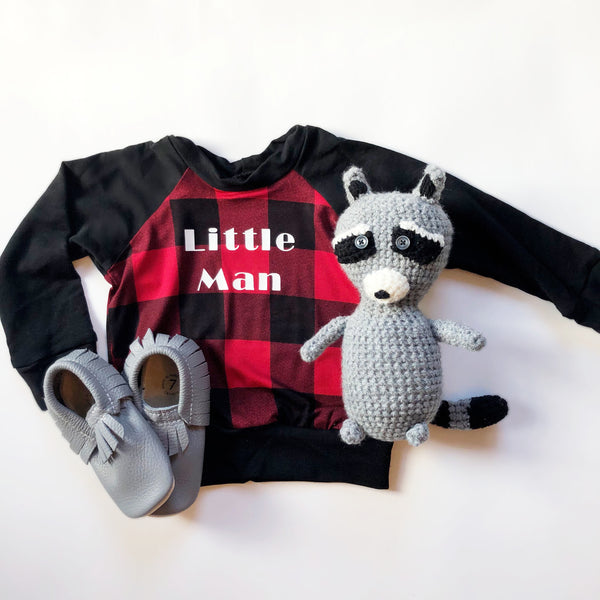 Crew Neck Little Man Holiday Addition
