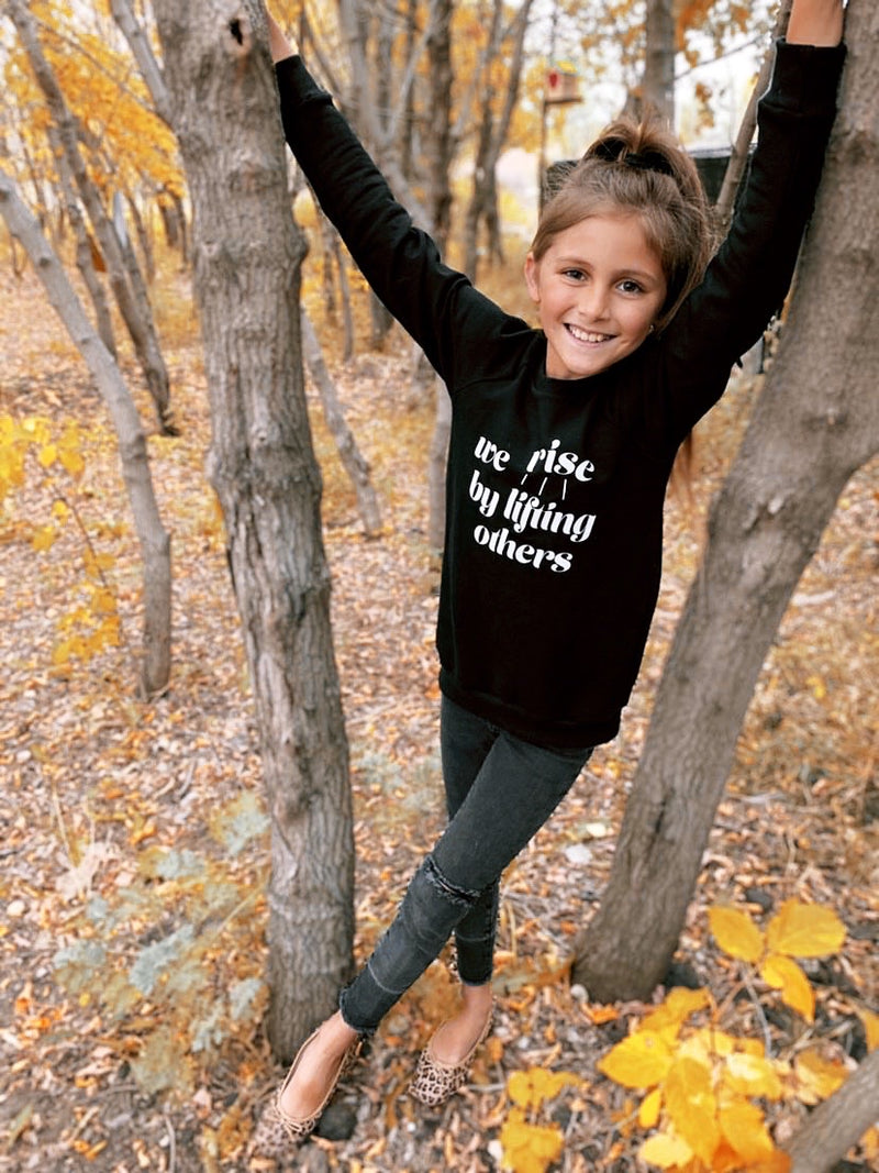 Child Crewneck Bamboo Fleece Top We Rise in Two Colours
