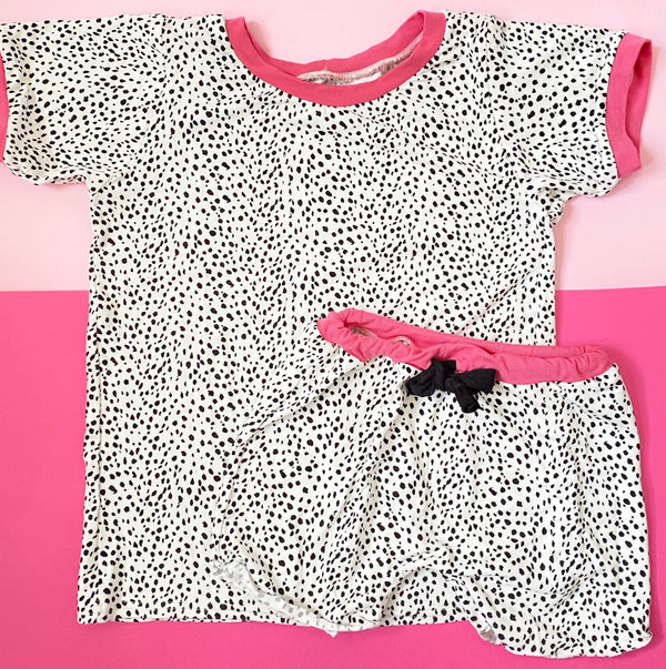 Kids Bamboo Basic T in Dalmatian