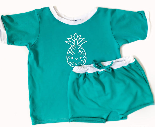 Kids Bamboo Basic T in Aqua