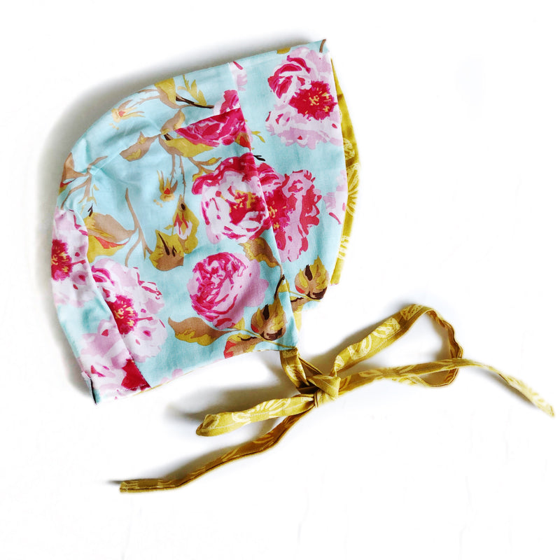 Bonnet Mint Floral (Reversible)