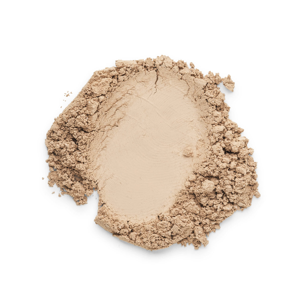 Ivadore 100% Mineral Loose Powder showing colour swatch. A warm beige colour suitable for olive or Mediterranean skin types