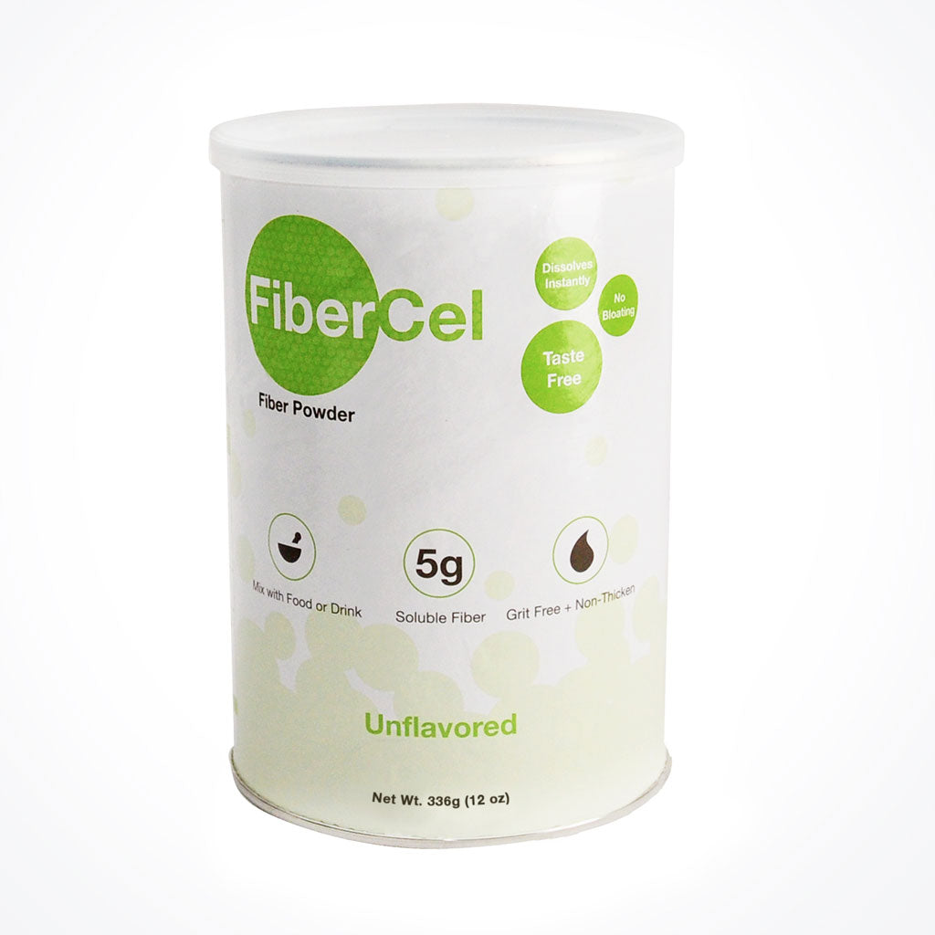 FiberCel powder is easy to use, dissovles instantly and provides 5 grams of fiber in every serving.