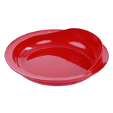 Scoop plate with rim in red color