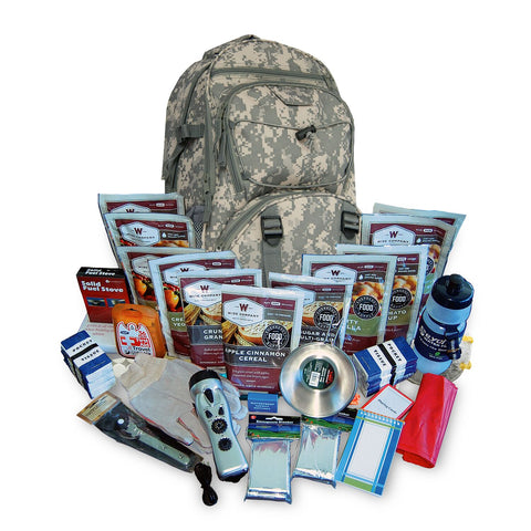 2 Week Essential Survival Backpack 16 lbs 20x10x10 (Camo)