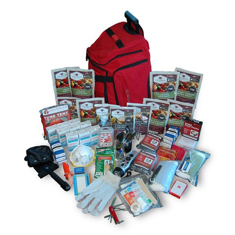 2 Week Deluxe Survival Backpack 27 lbs (Red)