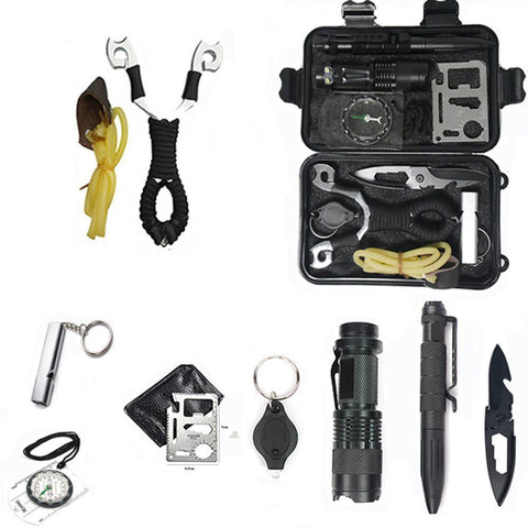 10 in 1 Outdoor Survival Kit Set