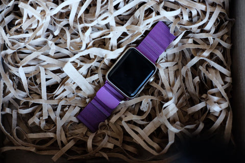 Apple Watch Australia OzStraps Purple Milanese Loop 1