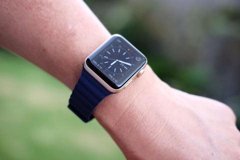 Apple Watch Band Leather Loop Blue OzStraps Australia