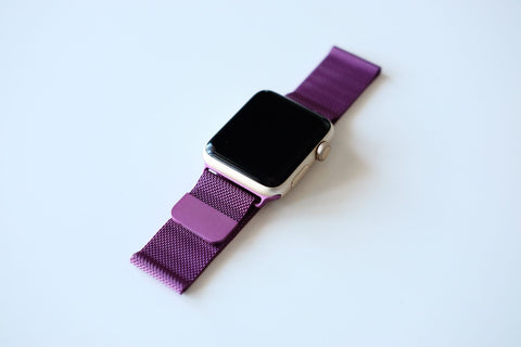 Apple Watch Australia OzStraps Purple Milanese Loop 2