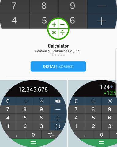 Samsung Galaxy Gear S3 Watch Bands Apps Calculator