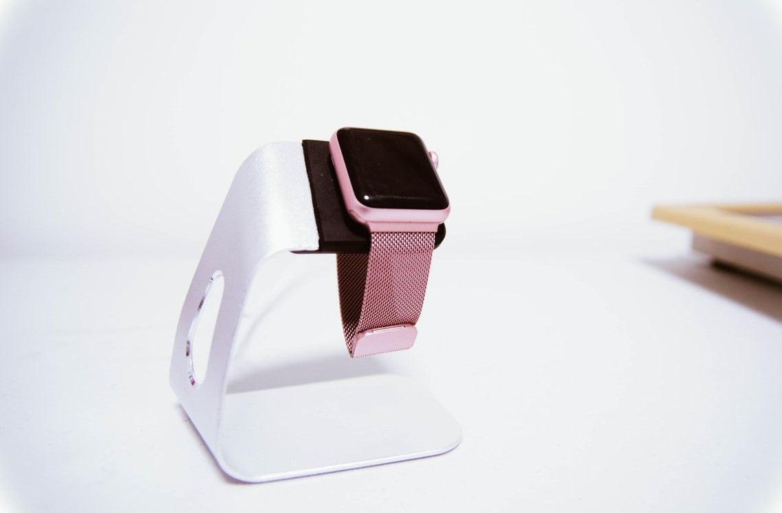 Apple Watch Stand - Silver Aluminium OzStraps Middle East