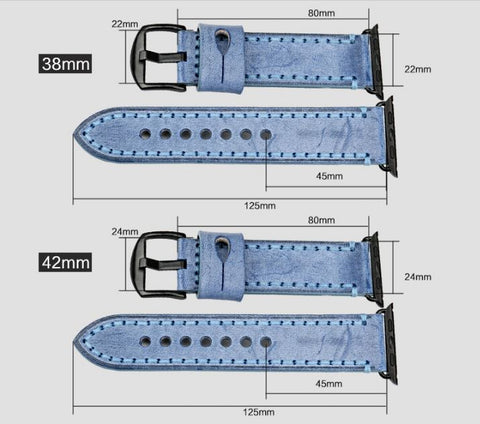 Sizing Guide to the Malvern Collection Apple Watch Band