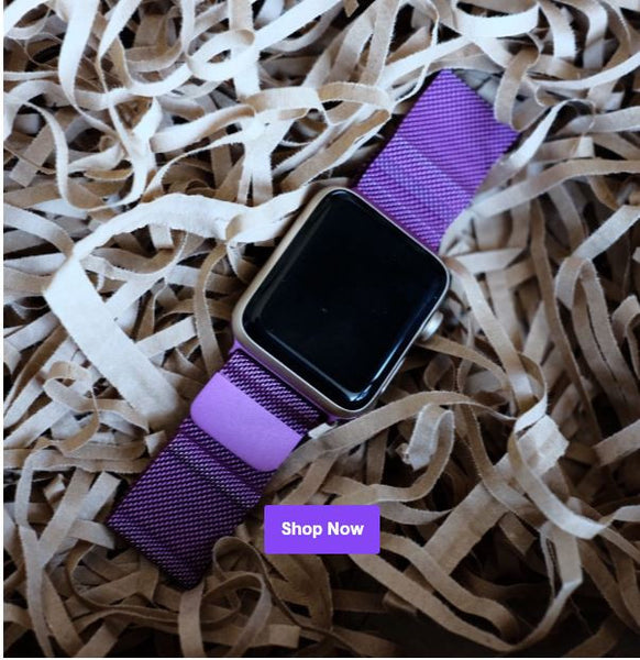 Purple Milanese Loop for Apple Watch