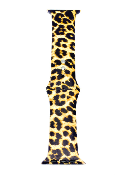 Leopard Silicone Apple Watch Band | OzStraps
