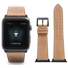 Light Brown French Calf Leather Apple Watch Band | OzStraps