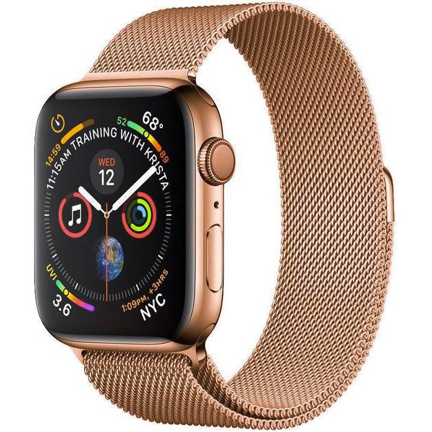 Aurum Gold Milanese Loop Apple Watch Band | OzStraps