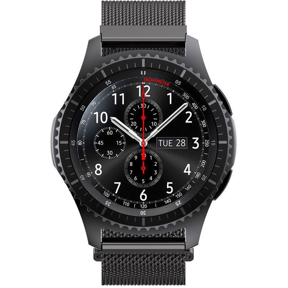 Black Milanese Loop Samsung Gear S3 Band Frontier Double Side Strap Only