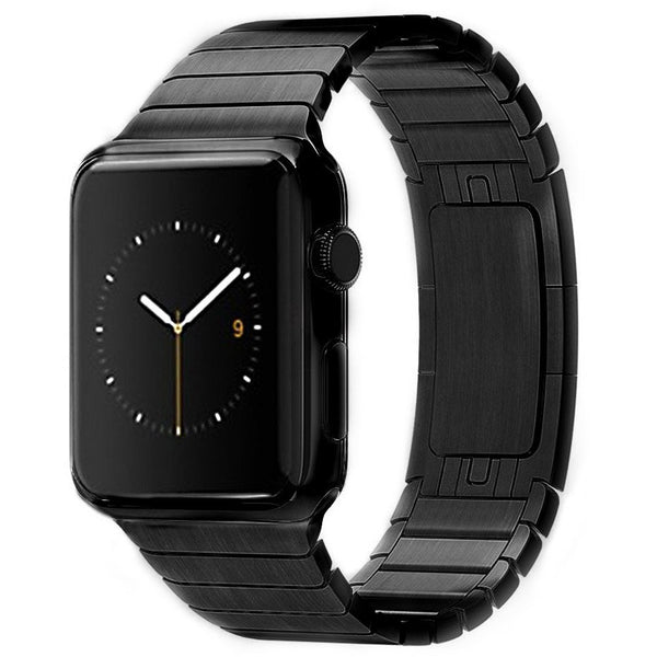 Black Ceramic Stainless Steel Apple Watch Band - OzStraps