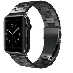 Black Classic Stainless Steel Apple Watch Band | OzStraps
