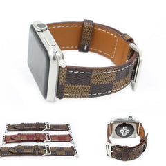 Chequered Leather Apple Watch Band | OzStraps