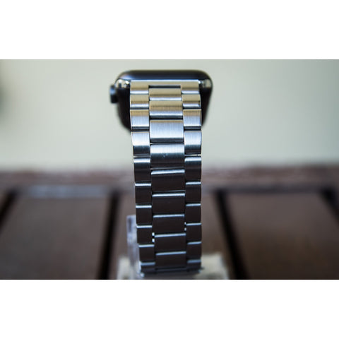 Silver Classic Stainless Steel Apple Watch Band | OzStraps