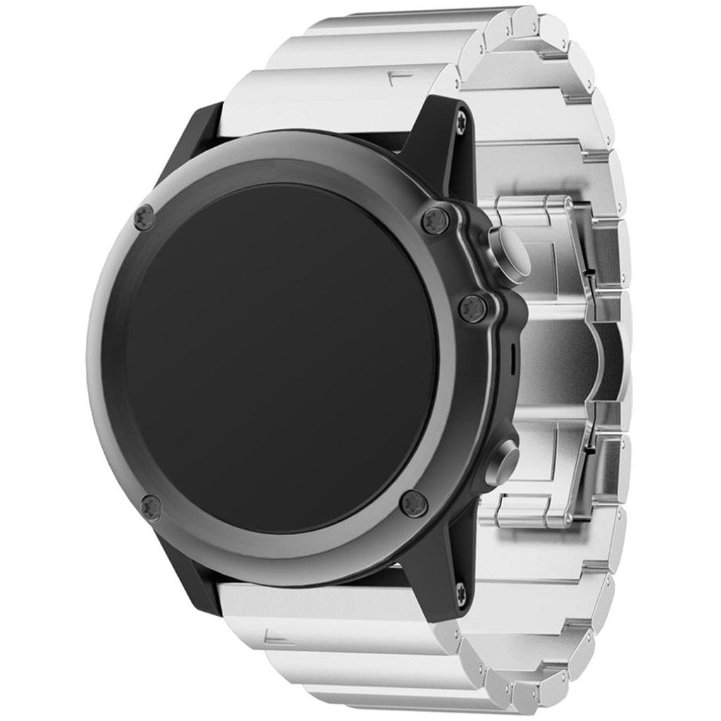 Silver Ceramic Garmin Fenix 3/HR Band - OzStraps