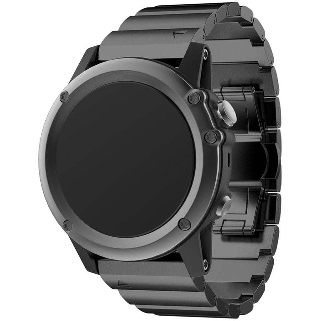 Black Ceramic Stainless Steel Garmin Fenix 3/HR Band | OzStraps