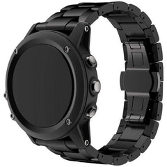 Black Classic Stainless Steel Garmin Fenix 3/HR Band - OzStraps