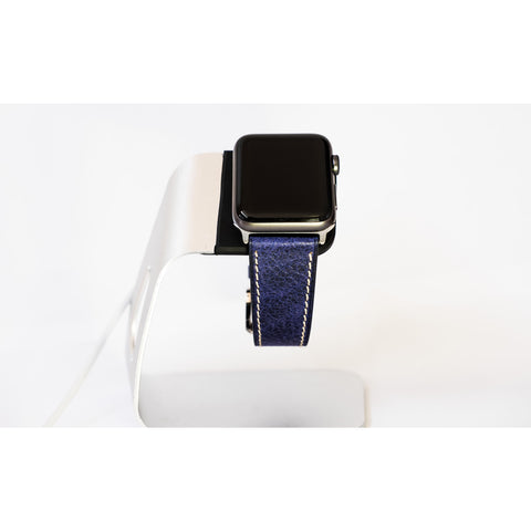 Blue French Calf Leather Apple Watch Band | OzStraps
