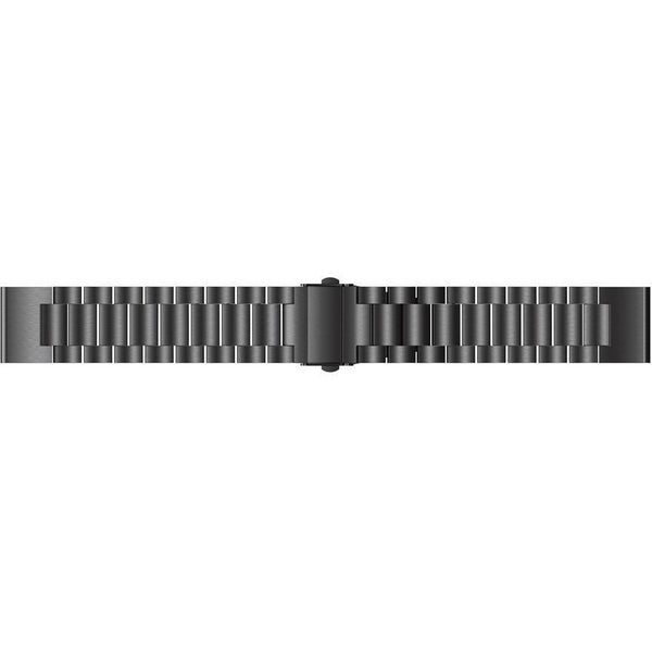 Black Classic Stainless Steel Garmin Fenix 5 Band | OzStraps
