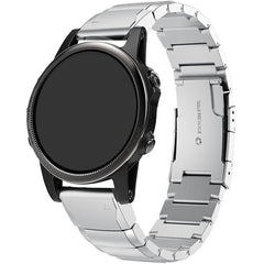 Silver Ceramic Stainless Steel Garmin Fenix 5S Band | OzStraps