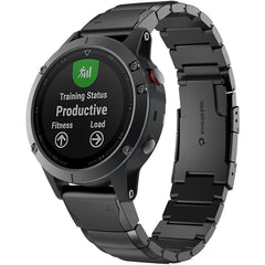 Black Ceramic Stainless Steel Garmin Fenix 5X Band | OzStraps