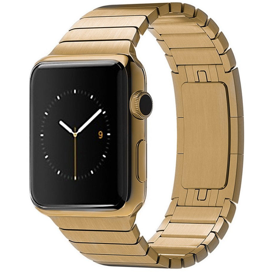 Gold Ceramic Stainless Steel Apple Watch Band | OzStraps