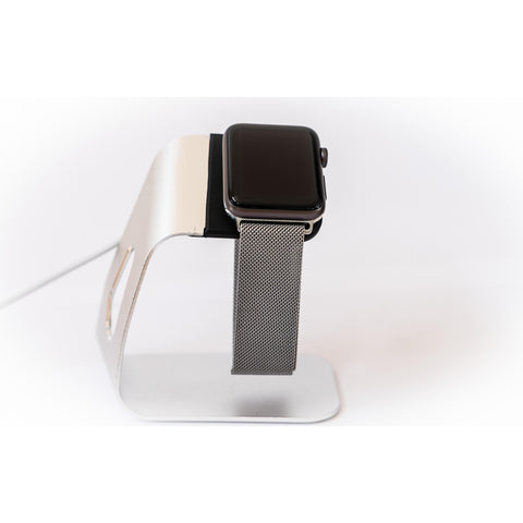 Silver Milanese Loop Apple Watch Band | OzStraps