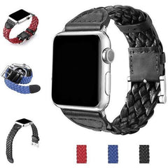 PU Leather Weave Apple Watch Band | OzStraps