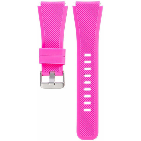 Pink Silicone Samsung Gear S3 Band | OzStraps