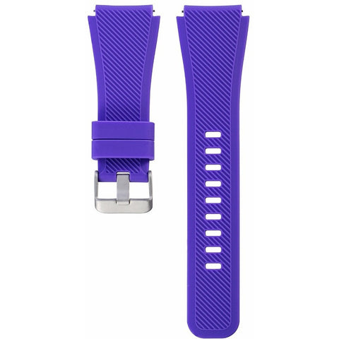 Purple Silicone Samsung Gear S3 Band | OzStraps