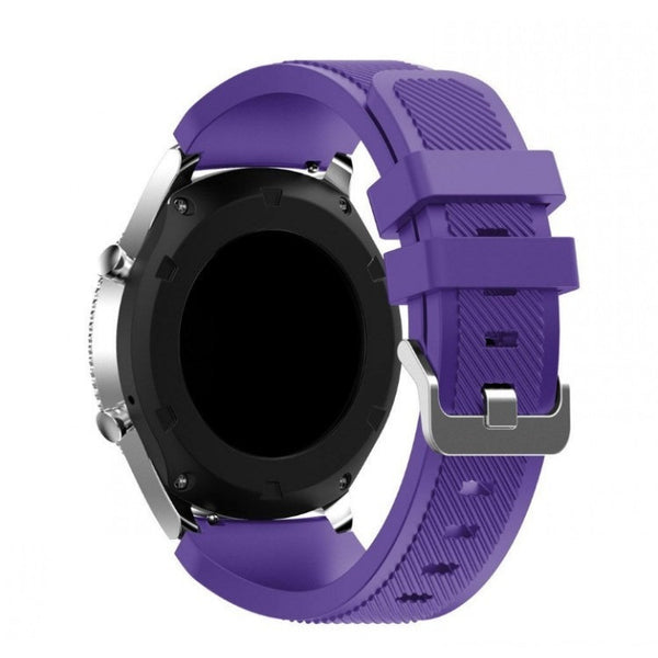 Purple Silicone Samsung Gear S3 Band - OzStraps