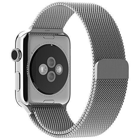 Silver Milanese Loop Apple Watch Band - OzStraps
