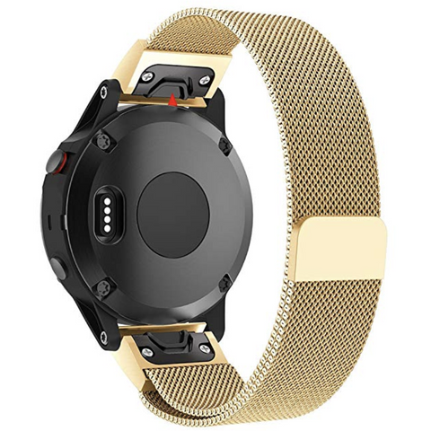 Gold Milanese Loop Garmin Fenix 5 Band | OzStraps